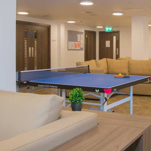 table tennis in communal area
