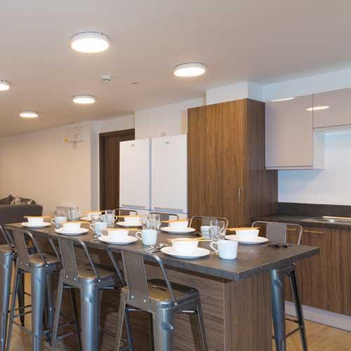communal kitchen seating area